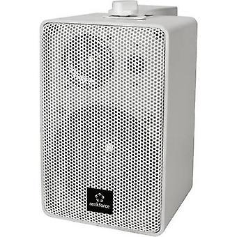 Renkforce RL100W WH Bookshelf speaker White 100 W 90 Hz - 20000 Hz 1 Pair