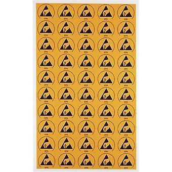 Wolfgang Warmbier ESD symbol 50 pc(s) Yellow, Black (L x W) 30 mm x 25 mm 2850.3025 self-adhesive