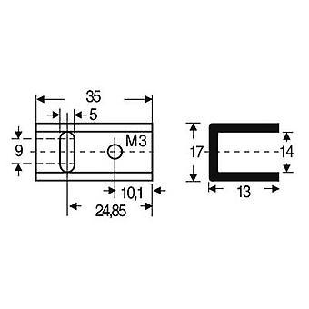 Fischer Elektronik SK 13 35 SA-220 Disipador de calor 17 K/W (L x An x H) 35 x 17 x 13 mm A 220