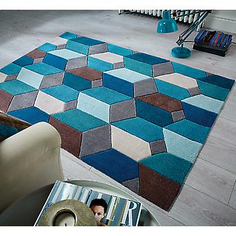 Alcance infinito rectángulo Teal alfombras alfombras Funky