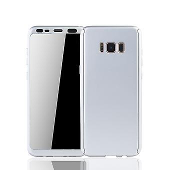 Samsung Galaxy S8 Schutzcase habitação móvel completo cobrir 360 prata de folha de proteção de tela