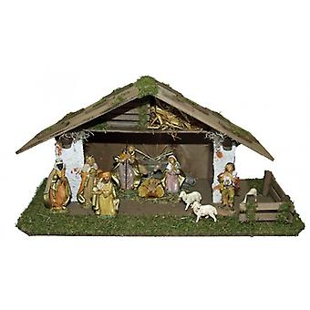 Nativity NAZARETH wood crib Nativity Christmas Nativity stable