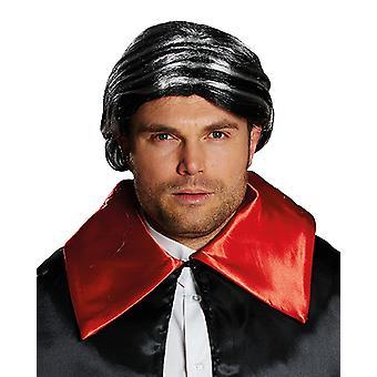 Herman Mr Black, peruk med hästsvans tillbehör Carnival Halloween