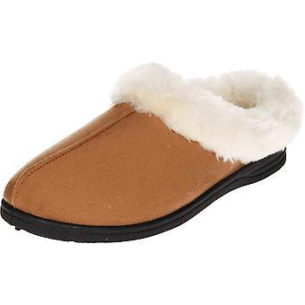 Cushion-Walk Navy Blue Mule Slipper Plush Slip On Clogs