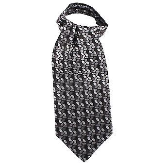Knightsbridge Neckwear Circles Silk Cravat - Black/Grey