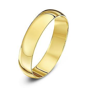 Star Wedding Rings 9ct Yellow Gold Light D Shape 3mm Wedding Ring