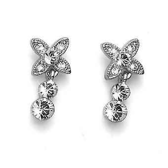 Oliver Weber Post Earring Fleur Gold Crystal