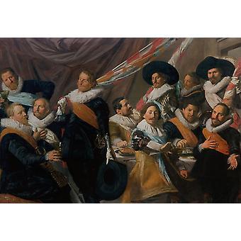 The Banquet of the St.George Militia Company,Frans Hals,60x40cm