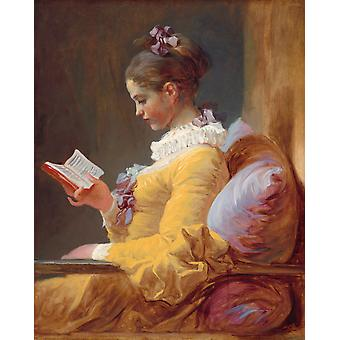 A Young Girl Reading, Jean Honore Fragonard, 50x40cm