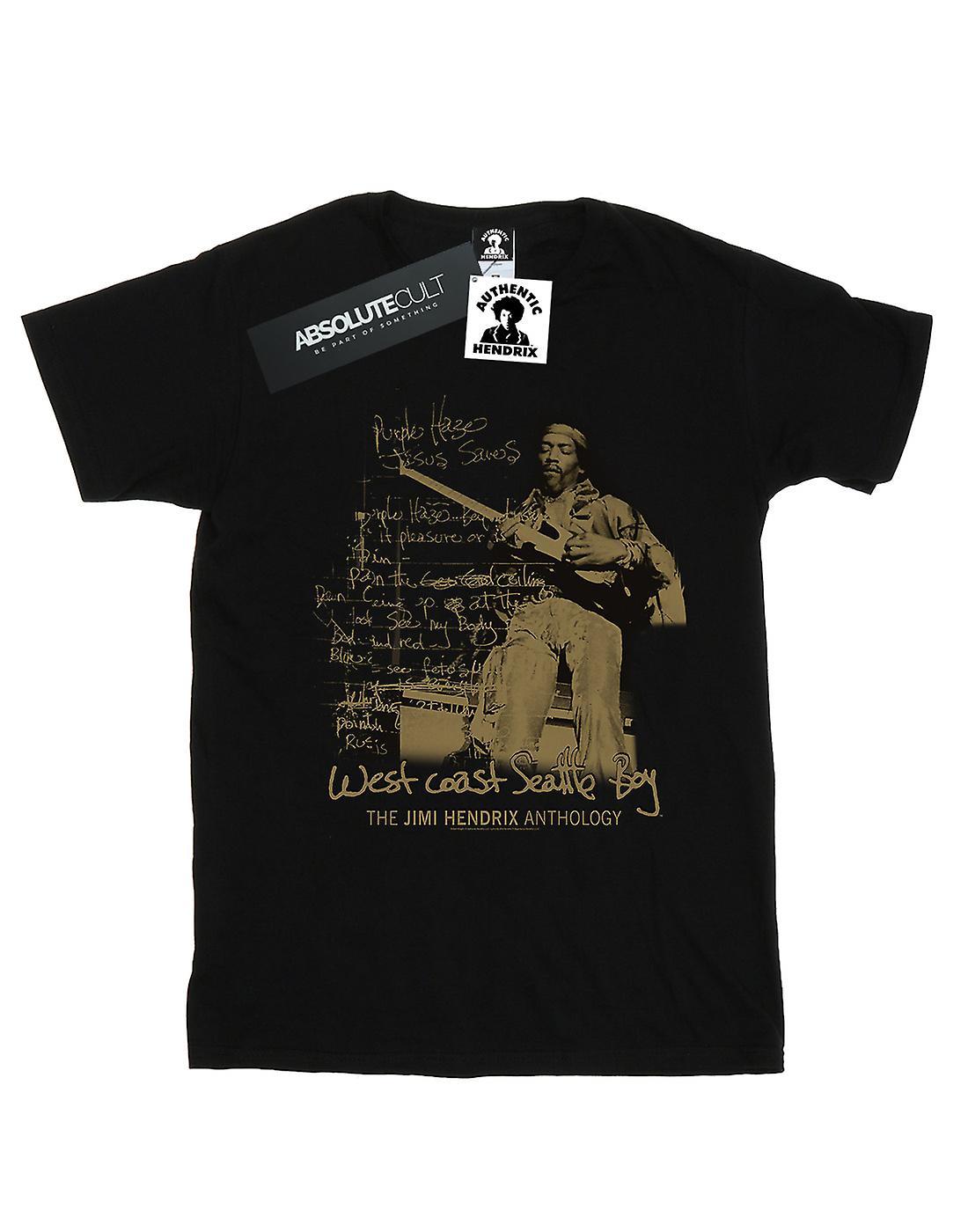 Jimi Hendrix Women's West Coast Seattle Boy Boyfriend Fit T-Shirt