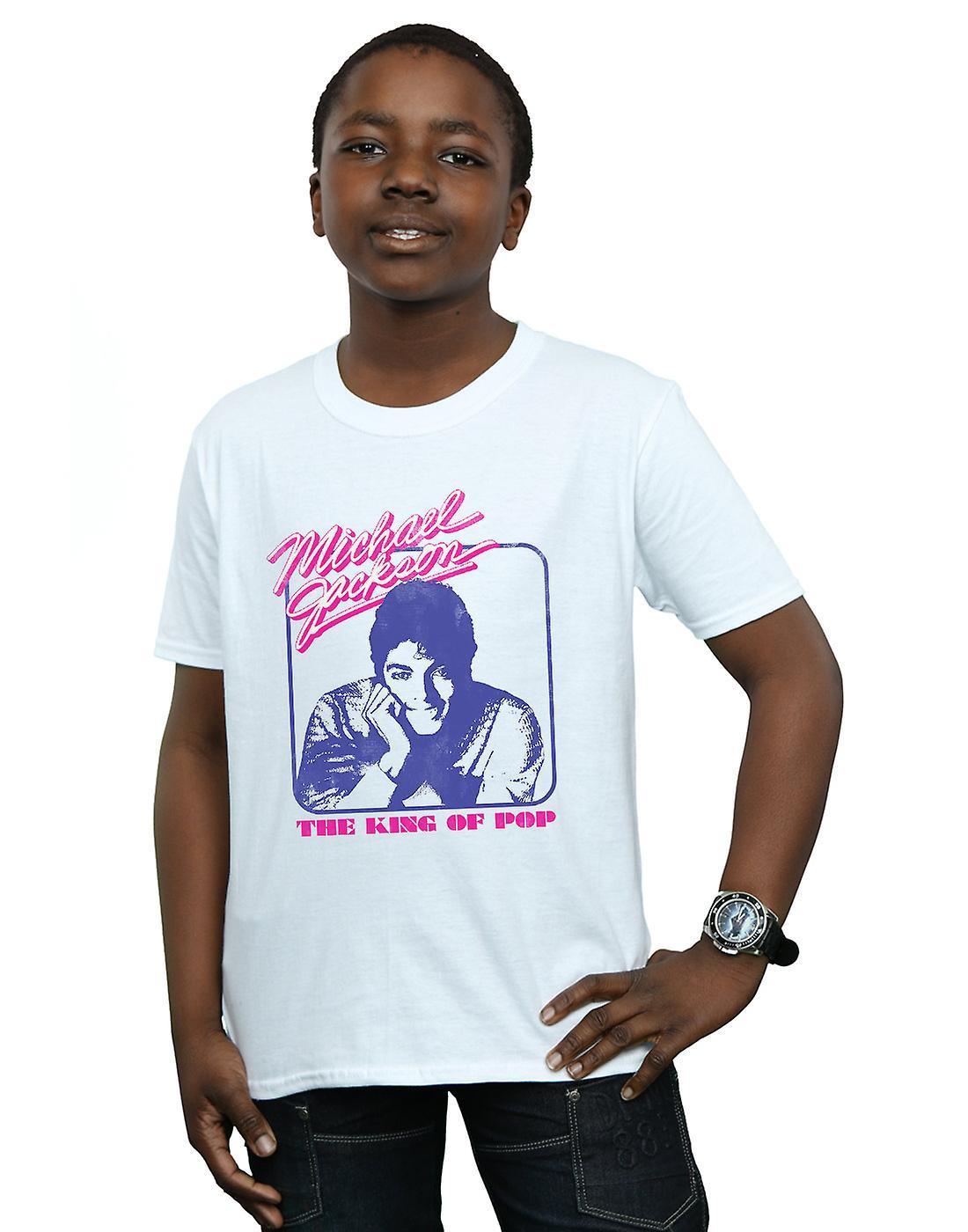 Michael Jackson Boys King Of Pop Portrait T-Shirt