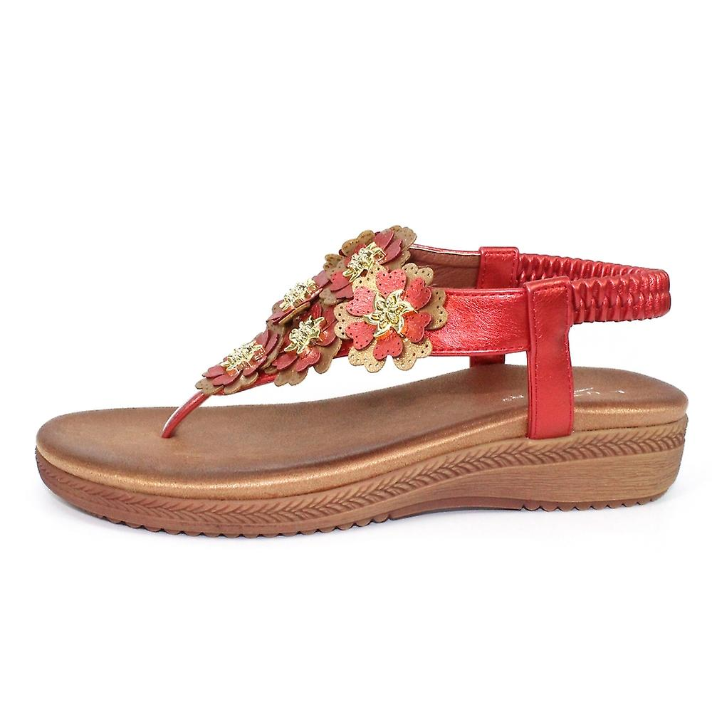 Lunar Sirena Floral Layered Sandal Clearance Sir
