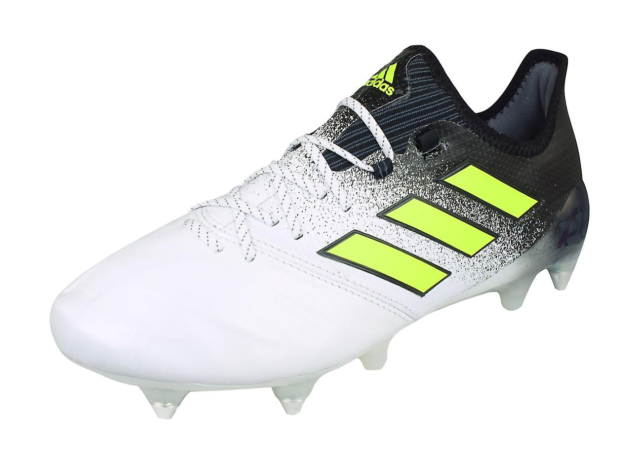 premium selection 45ab0 e9db1 adidas Ace 17.1 SG Leather Mens Soft Ground Football Boots - White and Black