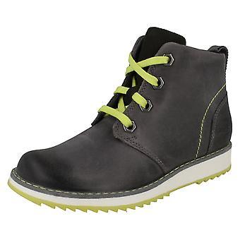 Boys Clarks Ankle Boots Fleet Top