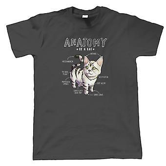 Anatomi av en katt, Mens T-shirt - Söt Sällskapsdjur Djur Boop Gåva Honom | Gästartist JG