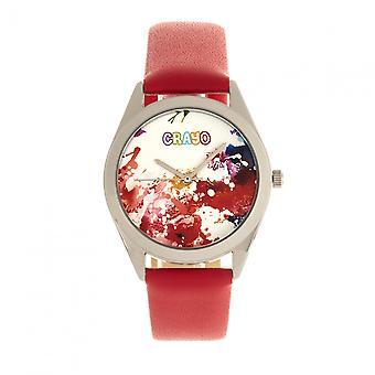 Crayo graffiti Unisex Watch-hopea/punainen