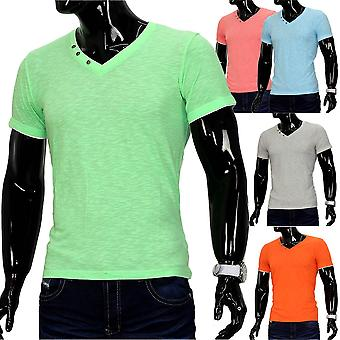 Men's T-Shirt Sport Polo Stretch Contrast Pastel Clubwear Shirt Basic Sun Beach