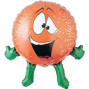 Oaktree 27 Inch Orange Shaped Foil Party Balloon