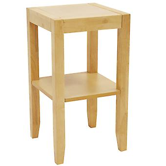 Em qualquer lugar - final de madeira sólida / telefone / lado / cabeceira de mesa - Natural