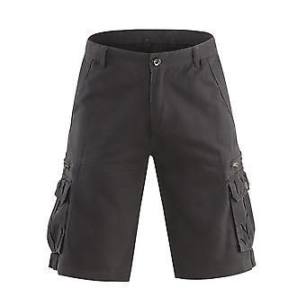 Allthemen Men ' s pantaloni scurți Mid talie bumbac casual Loose pantaloni scurți