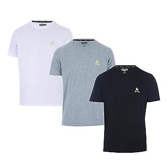 MTens Money Aurous 3 Pack T-Shirt In Black/Grey Marl/White-One T-Shirt White,