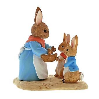 Beatrix Potter Mrs. Rabbit, Flopsy and Peter Mini Figurine