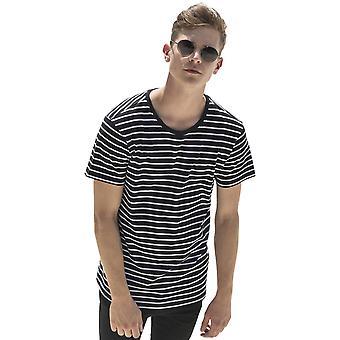 Cotton Addict Mens Striped Short Sleeve Cotton T Shirt