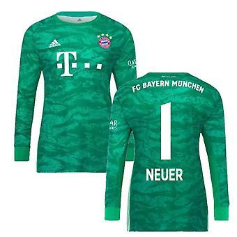 2019-2020 Bayern München hjem Adidas keeper shirt (barn) (Neuer 1)