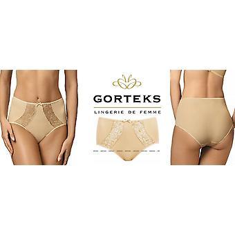 Gorteks Lingerie Alexis High Waist Panties with Floral Detail