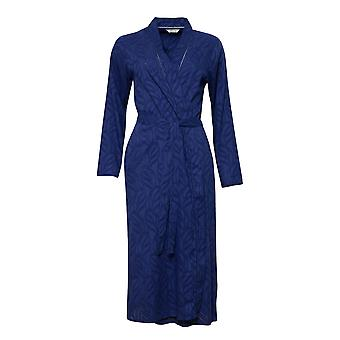 Cyberjammies 1324 Kobiety's Nora Rose Thea Navy Blue Cotton Long Robe