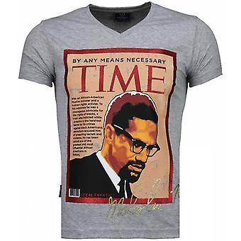 Malcolm X-T-shirt-grå