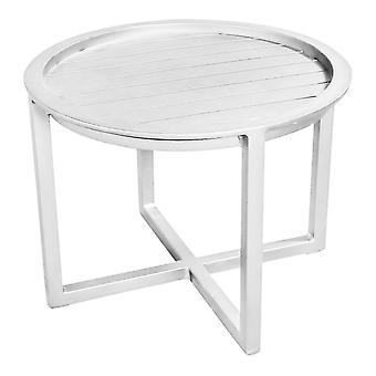 Aéroport7 - France QUEENS LOUNGE TABLE ALUMINUM 60CM  Blanc Tables de jardin