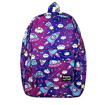 Backpack - Hello Kitty - Outer Space Allover-Print Nylon New sanbk0345