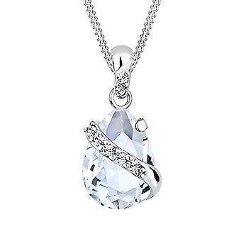 Elli hopea naisten kaula koru 925 Swarovskin kristallien kanssa-45 cm