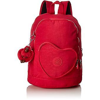 Kipling Heart Backpack - Unisex Kids Backpacks - Pink (True Pink) - 15x24x45 cm (W x H x L)