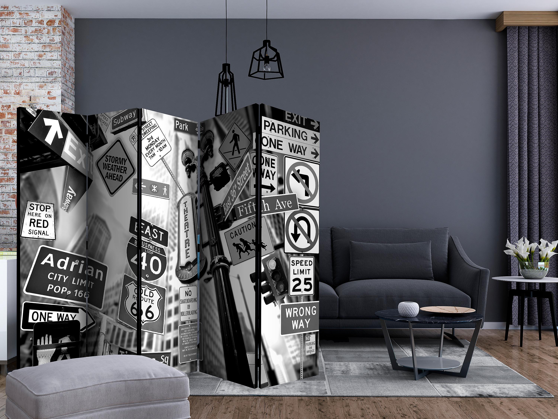 Paravent 5 volets - Roads to Manhattan II [Room Dividers]