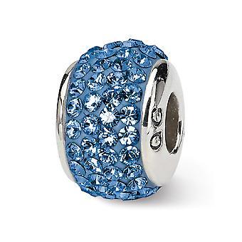 925 Sterling Silber poliert Reflexionen September volle Kristall Perle Anhänger Anhänger Halskette Schmuck Geschenke für Frauen