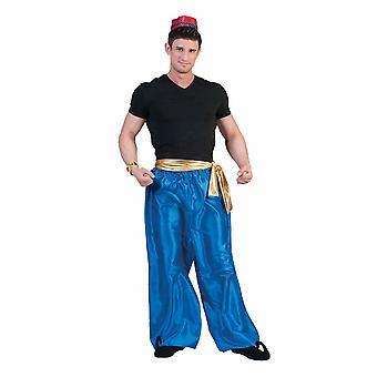 Pantalon Blue Sultan Aladin Costume Artiste Homme Gypsy Gaukler Costume Homme