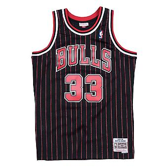 Mitchell & Ness Nba Chicago Bulls Scottie Pippen 1995-96 Swingman maillot Black Pinstripe