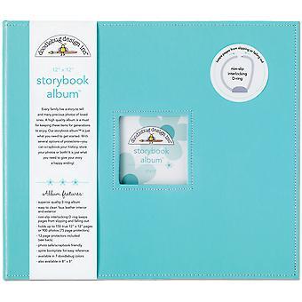 "Doodlebug Storybook D-Ring Album 12""X12"" - Uima-allas"