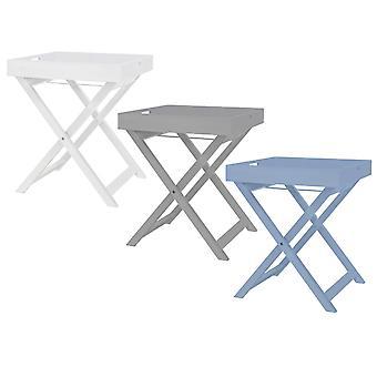 Charles Bentley houten tray op stand Butlers dienblad met standaard en opvouwbare stand in 3 kleuren