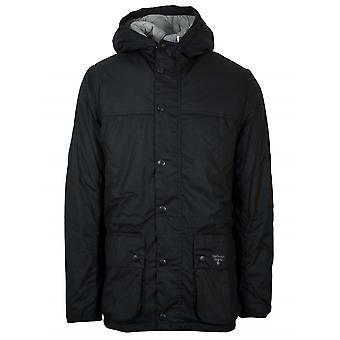 Barbour Beacon Hooded Durham Black Waxed Jacket