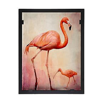 Glass vision-painting-Art Glass-– Flamingo Design Yvonne Heinonen