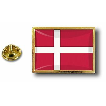 Pins Pin Badge Pin's Metal  Avec Pince Papillon Drapeau Danemark Danois