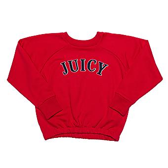 Infant Girls Juicy Couture Applique Sweat In Rose- Ribbed Waistband, Cuffs And