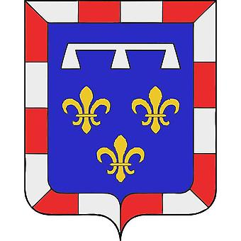 Sticker sticker vinyl car adhesive coat of arms france coat of arms center