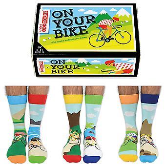 United Oddsocks Men's On Your Bike Socks Gift Set