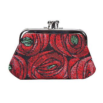 Mackintosh - rose and teardrop coin purse by signare tapestry / frmp-rmtd