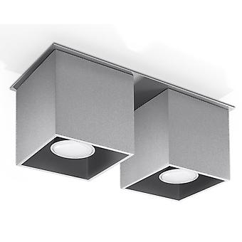 Sollux QUAD 2 Light Suface Mounted Downlight Grey SL.0064