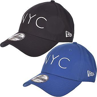 Neue Ära Mens New York City NYC 9FORTY verstellbarbaseball Hut Mütze - blau / schwarz